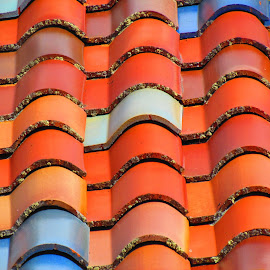 by Marilyn Kircus - Abstract Patterns ( roof, geometric patterns, tiles, patterns,  )