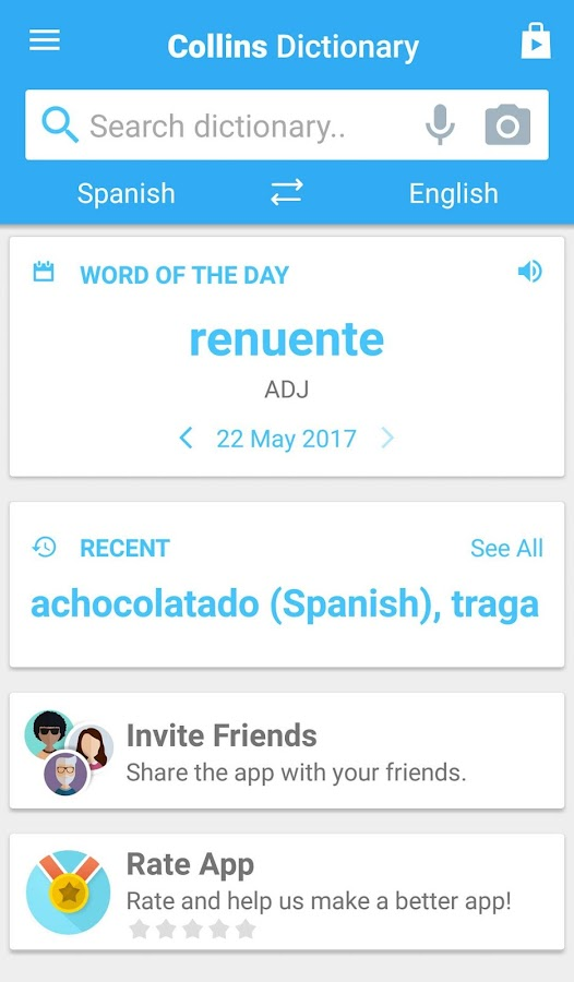Collins Spanish Complete Dictionary Screenshot 1