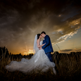 Summer Sunset by Lood Goosen (LWG Photo) - Wedding Bride & Groom ( wedding photography, wedding photographers, wedding, weddings, wedding day, fine art photography, wedding dress, wedding photographer, bride and groom, bride, groom, destination wedding photography, destination weddings, bride groom,  )