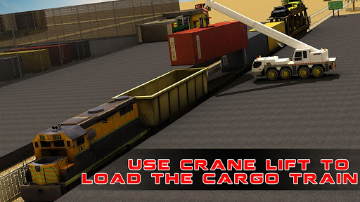 Train Cargo Crane Simulator 3D