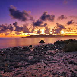 purplewarm after sunset by Ign Agung Aries - Landscapes Sunsets & Sunrises