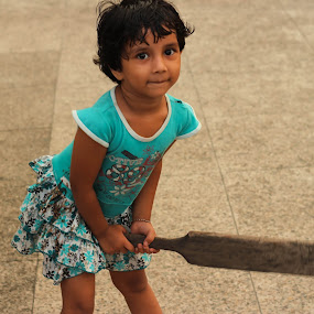 In India every one is Sachin by Sambit Ghosh - Babies & Children Children Candids ( girl, cricket, candid )