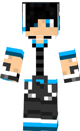 Like img - Showing Minecraft Blue Creeper Hoodie Skin