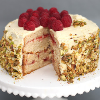 White Chocolate, Vanilla and Raspberry Layer Cake