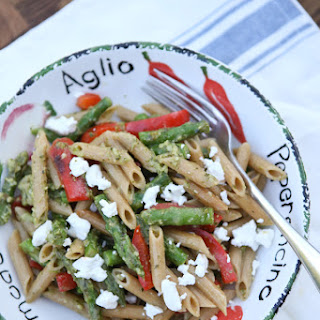 Spring Vegetable Pasta with Pesto