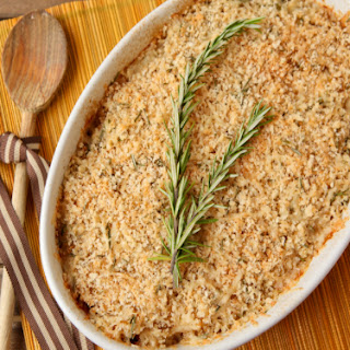 Apple-Butternut Squash Bake with Panko, Rosemary, and Gruyere