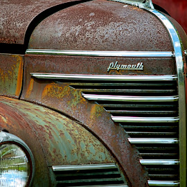 Retired by Judy Laliberte - Novices Only Objects & Still Life ( car, old, chrome, rust, close up )