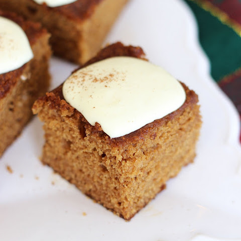 Easy Gingerbread Snack Cake with Lemon Cream Cheese Frosting