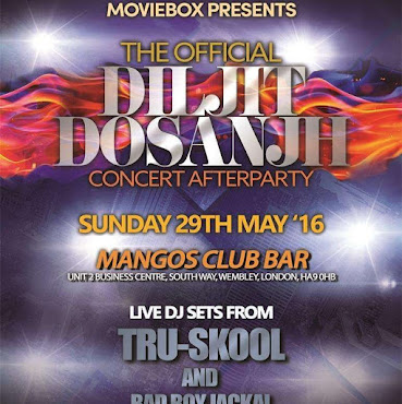 Diljit Dosanjh Concert After Party - Sun 29th May 16