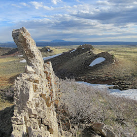 Hogback by Kirby Hornbeck - Landscapes Mountains & Hills ( clouds, hills, mountains, wyoming, landscapes, rocks )