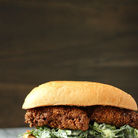 Pecan Fried Chicken Sandwiches with Collard Green Coleslaw