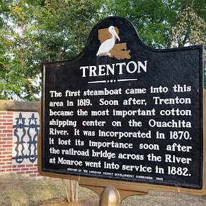 The first steamboat came into this area in 1819. Soon after, Trenton became the most important cotton shipping center on the Ouachita River. It was incorporated in 1870. It lost its importance soon ...