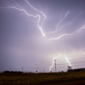 Electrifying Skies by Aaron Rigsby - Landscapes Weather ( lightning, marysville, ohio, storm )