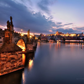 Charles Bridge Prague by Jo Wood - City,  Street & Park  Historic Districts ( #prague, #charlesbridge )