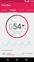 Screenshot of Runtastic Heart Rate Monitor