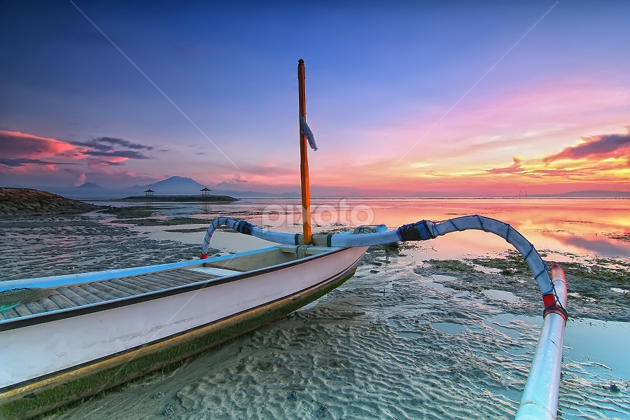 Go away by Krishna Mahaputra - Transportation Boats ( canon, bali, sunrise, beach, landscape, photography )
