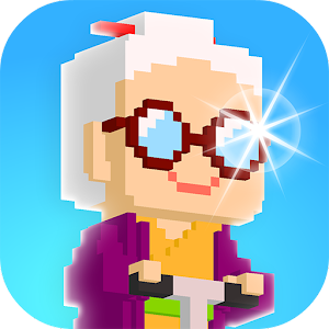 Super Grannies are coming!Run! Jump! Collect coins and get grannies! APK Icon