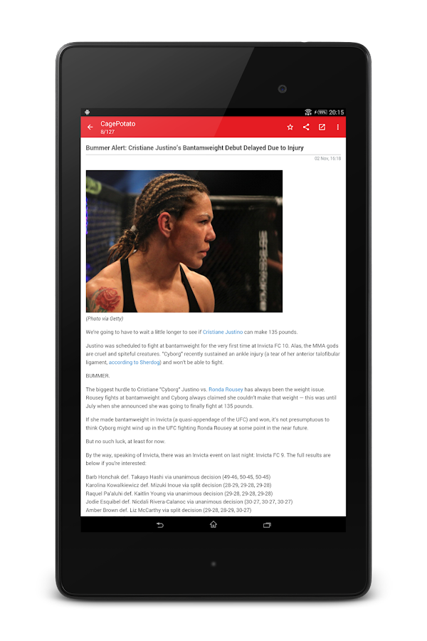 MMA News Pro Screenshot 13