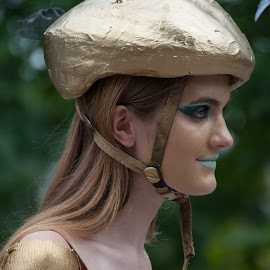 Golden girl by Ginny Anderson - People Musicians & Entertainers ( parade, girl, gold helmet )