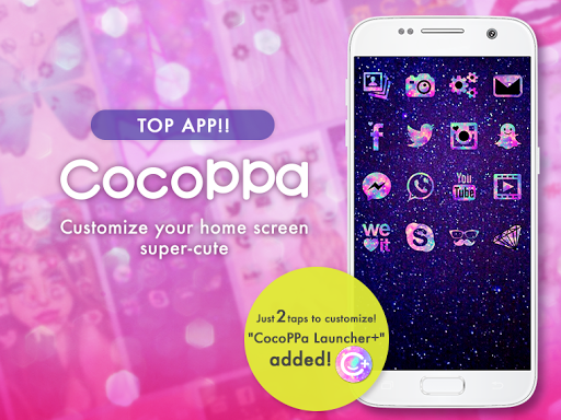 icon wallpaper dressup?CocoPPa screenshot 1