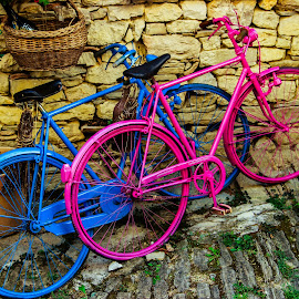 Pink & Blue  by Igor Modric - Transportation Bicycles