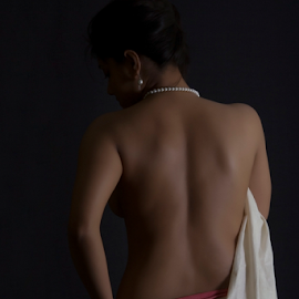 Light and shade by Mahul Mukherjee - Nudes & Boudoir Artistic Nude ( nude, bare body, woman, lady, sari, light and shade )