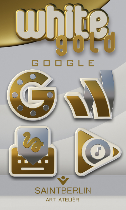 Icon Pack White Gold 3D Screenshot 2