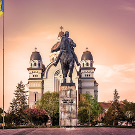 Statue of national hero Avram Iancu    by Hurghis Vasile - Buildings & Architecture Statues & Monuments ( urban exploration, statue, colors, still life, digital art, stone, romania, city )