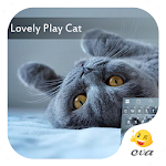 Lovely Play Cat Emoji Keyboard APK Image