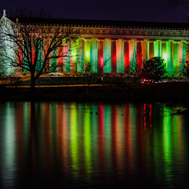 Nashville Parthenon by Bob Ellis - Buildings & Architecture Other Exteriors ( water, buildings, night, architecture )