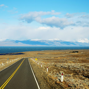 Beautiful nowhere by My 1st Impressions - Landscapes Travel ( argentina, on the road, patagonia, pampa, road, desert. )