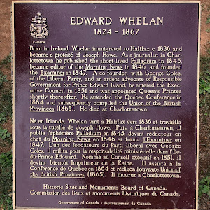 EDWARD WHELAN1824-1867Born in Ireland, Whelan immigrated to Halifax c. 1836 and became a protégé of Joseph Howe. As a journalist in Charlottetown he published the short-lived Palladium in 1845, ...