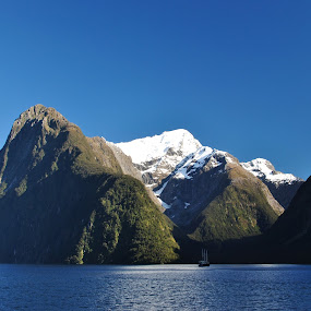 Milford Sound by Sharon Verschelling - Landscapes Mountains & Hills