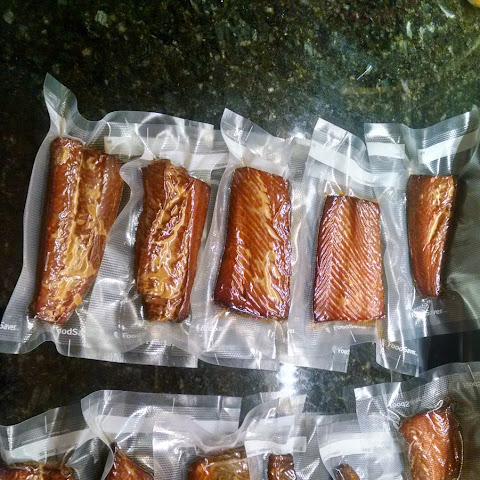 Final Smoked Salmon with recipe, instructions, and Qview
