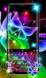 Colorful Neon Butterfly Keyboard Theme Apk Download Free for PC, smart TV