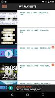 Screenshot of LivePhish
