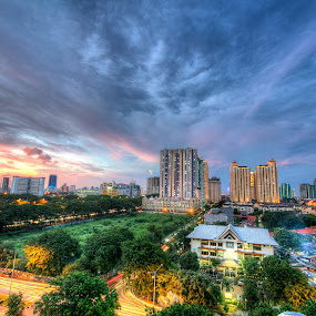 busy sunset by Edwin Kosasih - City,  Street & Park  Skylines