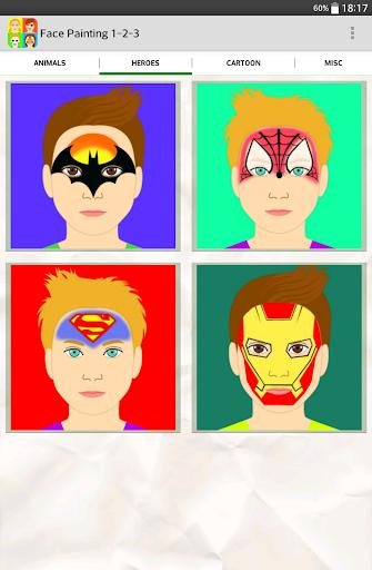 Face Painting 1-2-3 - screenshot