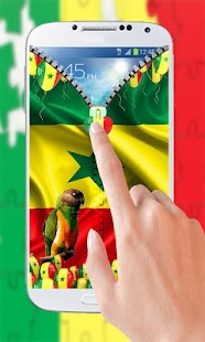 Senegal Flag Zipper Lock - screenshot