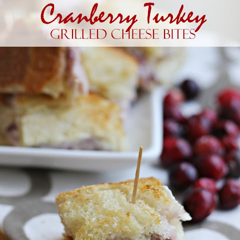 Cranberry Turkey & Grilled Cheese Bites