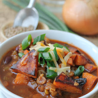Roasted Butternut Squash & Lentil Chili – Vegan & Gluten Free