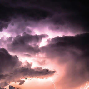 Electrifying Storm by Glenn Patterson - Landscapes Weather ( clouds, sign, sky, thunderstorm, colorful, weather, storm, portrait )