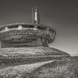 by Julian Popov - Uncategorized All Uncategorized ( dish, socialist, stone, travel, architecture, socialism, party, shipka, sky, social, cement, structure, memorial, spaceship, authentic, comunismo, sculpture, landmark, european, blagoev, ovni, monumento, communism, eastern, bulgarian, culture, abandoned, buzludzha, europe, peak, communist, dimitar, partido, space, construcao, monument, ufo, construction, bulgaria, socialistic, building, star, past, starship, brutalist, history, balkan, demolished, architectural, historical )