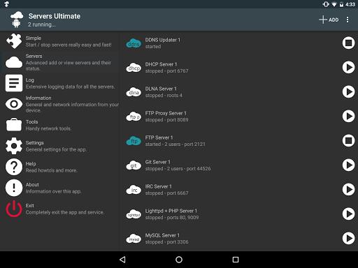 Servers Ultimate Pro - screenshot