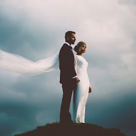 Windy Heights  by Tracey Marie Smith - Wedding Bride & Groom