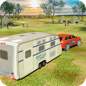 Camper Van Truck Simulator: Cruiser Car Trailer 3D Icon