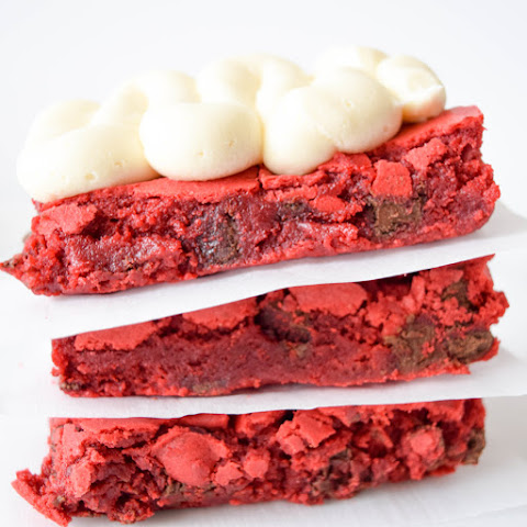 The Most Red Red Velvet Brownies