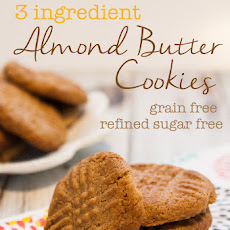 Three Ingredient Almond Butter Cookies