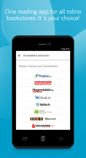 tolino e-book reading app - books reader screenshot 1