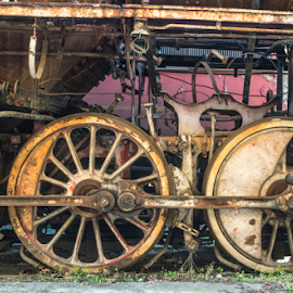 Details of an old steam locomotive by Deyan Georgiev - Transportation Trains ( nobody, detail, old, technology, wheel, railroad, vehicle, retro, travel, object, transportation, engineering, iron, ancient, gear, transport, metal, mechanics, rail, train, power, mechanical, industry, construction, black, closeup, element, structure, vintage, engine, machine, steel, loco, history, rod, railway, industrial, locomotive, antique, steam )